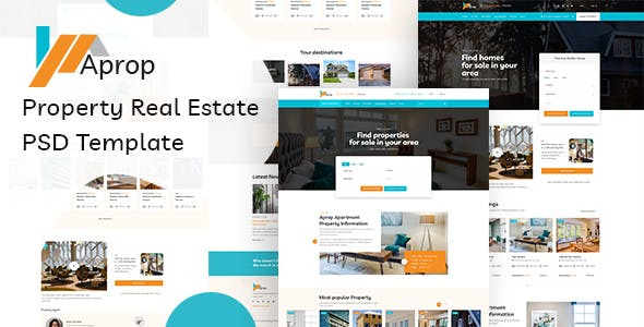 Aprop - Property Listing  Real Estate PSD Template