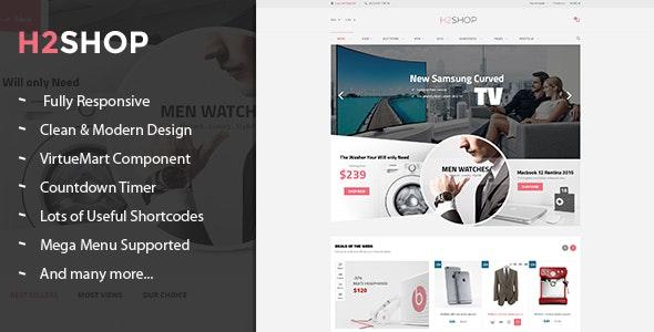 H2shop - Responsive Multipurpose VirtueMart Theme - VirtueMart Joomla