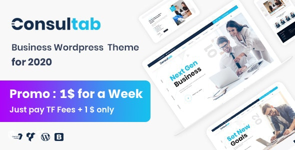 Consultab - Consulting Business & Finance WordPress Theme - Corporate WordPress