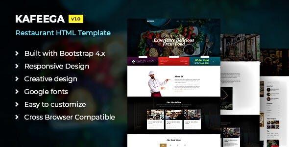 Kafeega - HTML template for Restaurants & Food Business