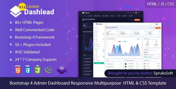 Dashlead –  Admin Panel HTML Template - Admin Templates Site Templates
