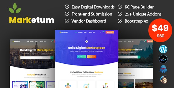 Marketum - Digital Product WordPress Theme - Miscellaneous eCommerce