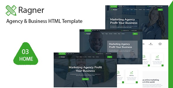 Ragner - Agency & Startup HTML Template - Corporate Site Templates