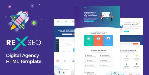 RexSeo - SEO /Digital Agency HTML5 Template - Portfolio Creative