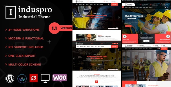 Induspro - Factory and Industrial WordPress Theme - Business Corporate
