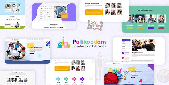 Download Pallikoodam - School WordPress Theme