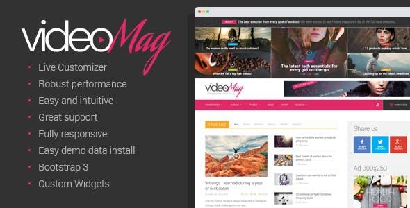 VideoMag - Magazine Video blog Theme