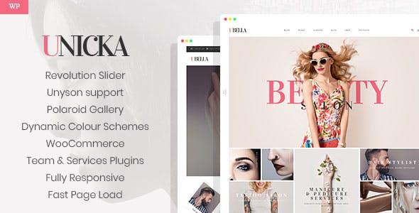 Unicka - Hair Styling & Beauty Salon WordPress Theme