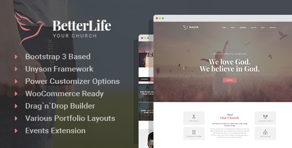 BetterLife - Church & Religious WordPress theme - Churches Nonprofit