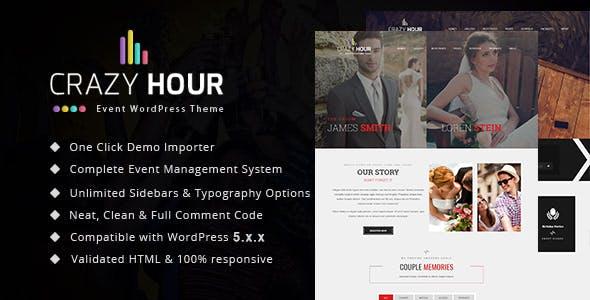 Crazy Hour - Event Management WordPress Theme