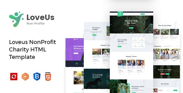 Loveus - Charity NonProfit HTML Template - Charity Nonprofit