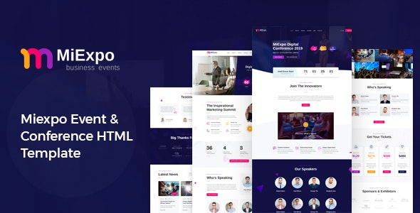MiExpo | Event Conference HTML Template - Events Entertainment