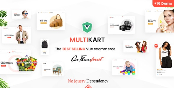 Multikart Responsive Vuejs eCommerce Template