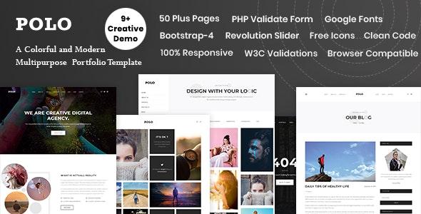 Polo - Multi-Purpose Bootstrap-4 Template - Creative Site Templates