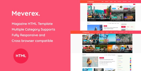 Meverex - Magazine HTML Template - Environmental Nonprofit