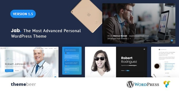 Jab - Multipurpose Resume Theme - Portfolio Creative