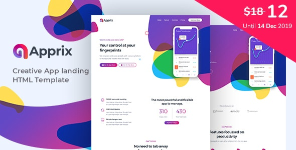 Apprix - App Landing Page - Software Technology