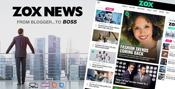 Zox News - Professional WordPress News & Magazine Theme - News / Editorial Blog / Magazine