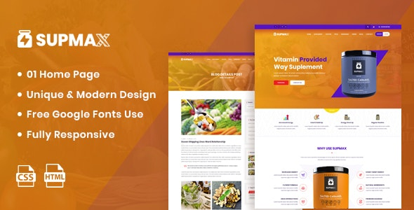 Supmax - Health Supplement Landing Page - Health & Beauty Retail