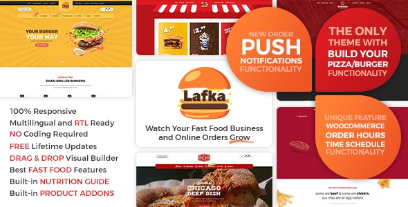 Lafka - WooCommerce Theme for Burger & Pizza Delivery - Food Retail