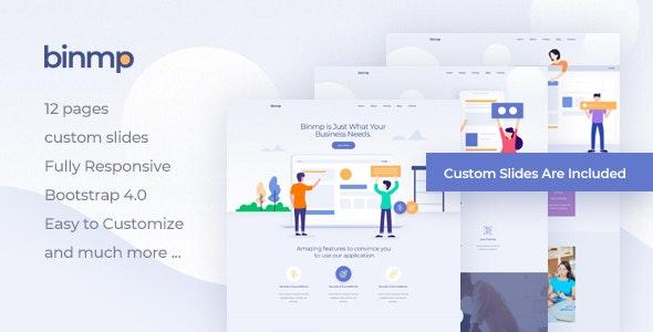 Binmp - App Landing WordPress Theme - Software Technology