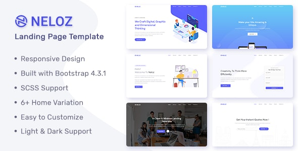 Neloz - Landing Page Template - Landing Pages Marketing