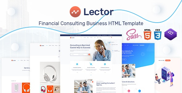 Lector- Business Consulting HTML Template. - Business Corporate
