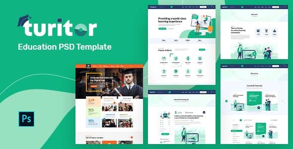 Turitor | Education PSD Template - Business Corporate
