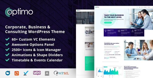 Optimo - Responsive Multi-Purpose WordPress Theme - Business Corporate