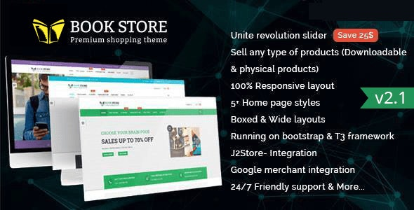 Bookstore - Responsive Joomla Ecommerce Template - Shopping Retail