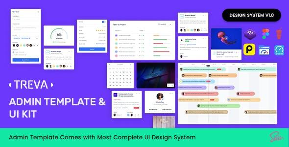 Treva Bootstrap Admin Template & UI KIT