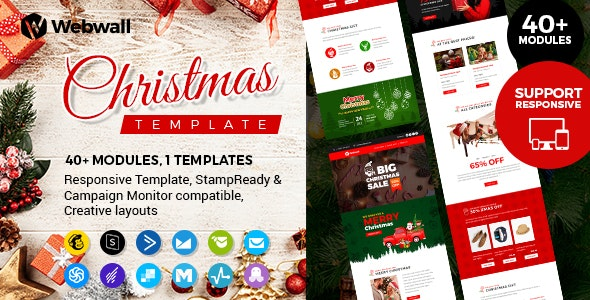 Webwall - Christmas Newsletter + StampReady & CampaignMonitor Compatible Files - Newsletters Email Templates