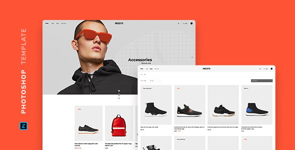 Meesto – eCommerce Template for Photoshop - Retail PSD Templates