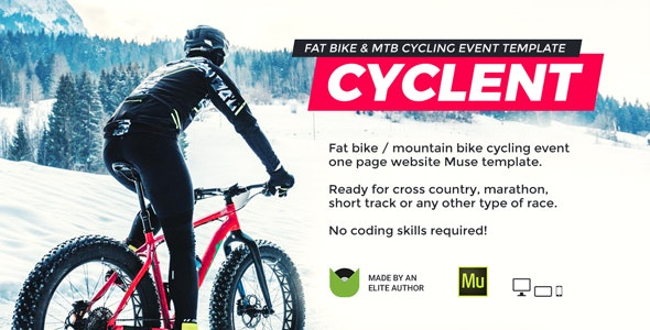 Cyclent – Mountain Bike Event Template - Miscellaneous Muse Templates