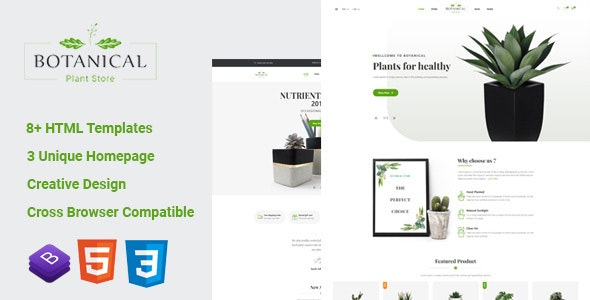 Botanical - HTML5 Ecommerce Template - Retail Site Templates