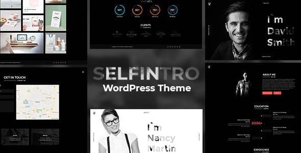 Resume, CV & Portfolio WordPress Theme