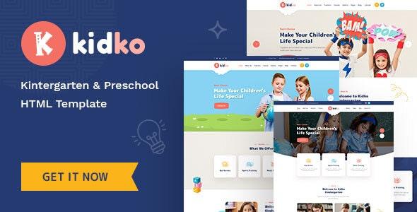Kidko - Kindergarten & Baby Care HTML Template - Children Retail