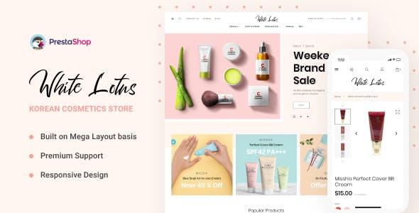 WhiteLotus - Korean Cosmetics PrestaShop Theme