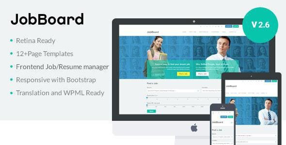 JobBoard -  Recruitment Directory WordPress Theme - Directory & Listings Corporate