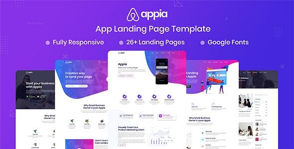 Appia - App Landing Page - Technology Site Templates