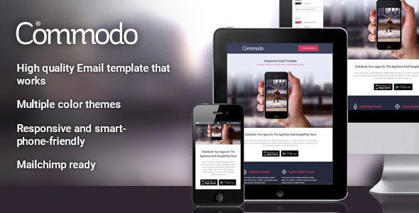 Commodo - Flat & Clean Responsive Email Template