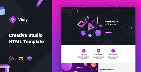 Violy - Creative Studio HTML Template - Creative Site Templates