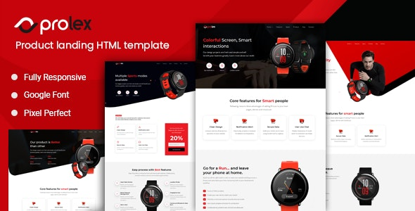 Prolex - Product Landing Page Template - Marketing Corporate
