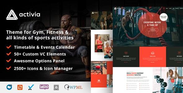 Activia -  Gym and Fitness WordPress Theme - Health & Beauty Retail