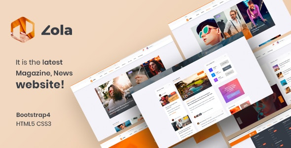 Zola | Magazine News HTML5 Template - Entertainment Site Templates