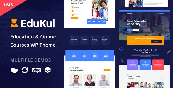 Edukul | Online Courses WordPress Theme - Education WordPress