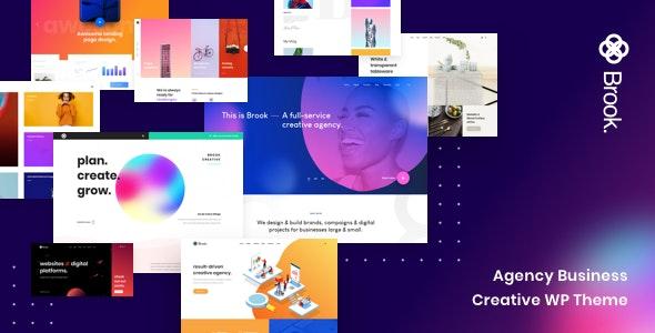 Brook - Agency Business Creative WordPress Theme - Portfolio Creative