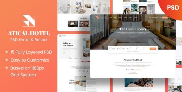 Atical - Hotel PSD Template - Restaurants & Cafes Entertainment