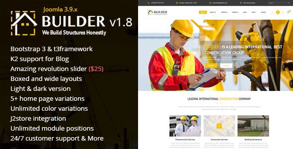 Builder - Building & Construction Joomla Template - Business Corporate