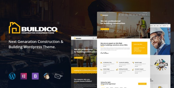 Buildico - Construction WordPress Theme - Business Corporate